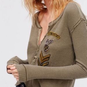 Free People • rare army thermal